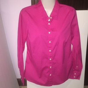 J. Crew haberdashery pink button top. Size small.